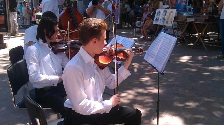 (video) Oră de muzică clasică în centrul capitalei