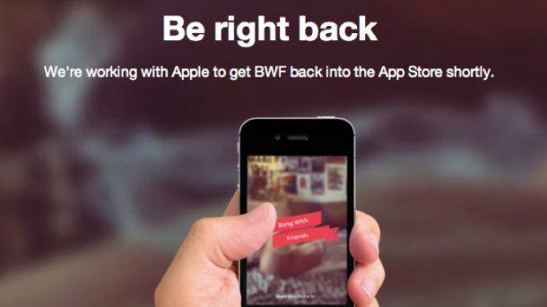 """""""Bang with friends"""" scoasă din aplicațiile Apple"""