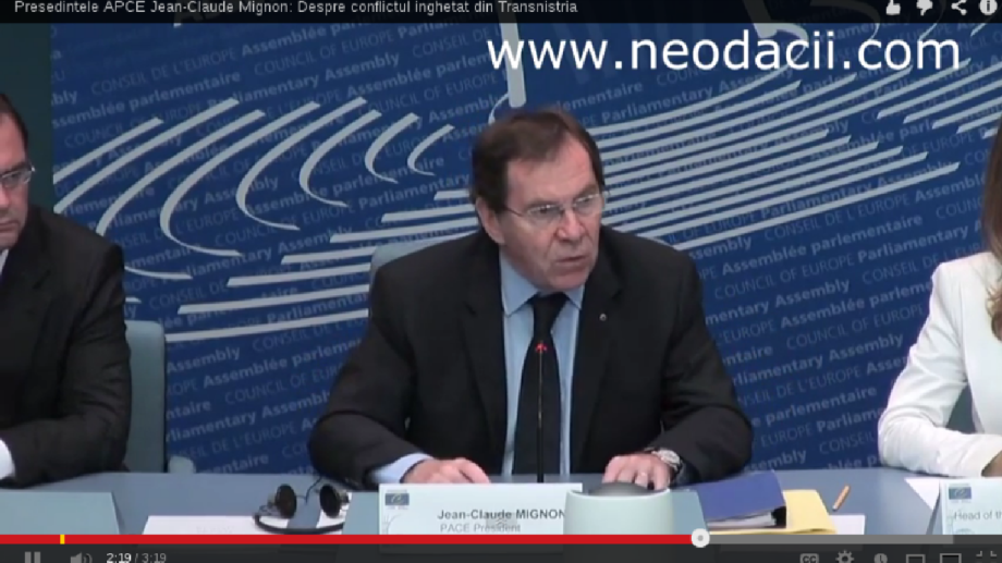 Jean-Claude Mignon vine cu soluția pentru conflictul transnistrean