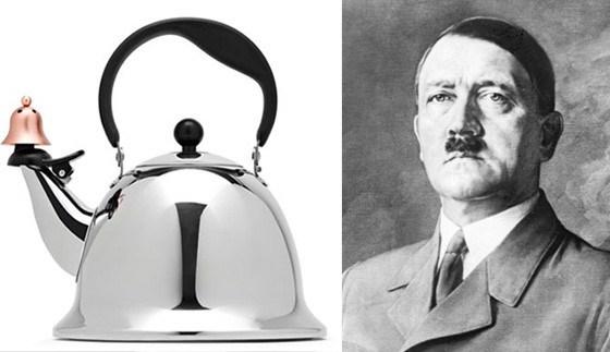 Ceainicul asemănător cu fața lui Adolf Hitler a fost vândut în rețelele magazinelor JC Penney.  PC: eonline.com