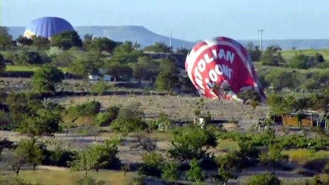 Un balon cu aer cald s-a prăbușit în Turcia