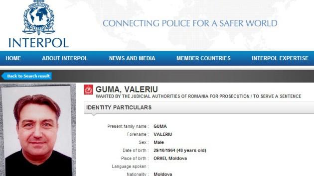 Valeriu Guma, dat în căutare pe Interpol