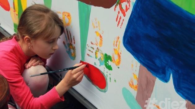 (foto) În capitală a apărut un perete colorat de Ziua Familiei
