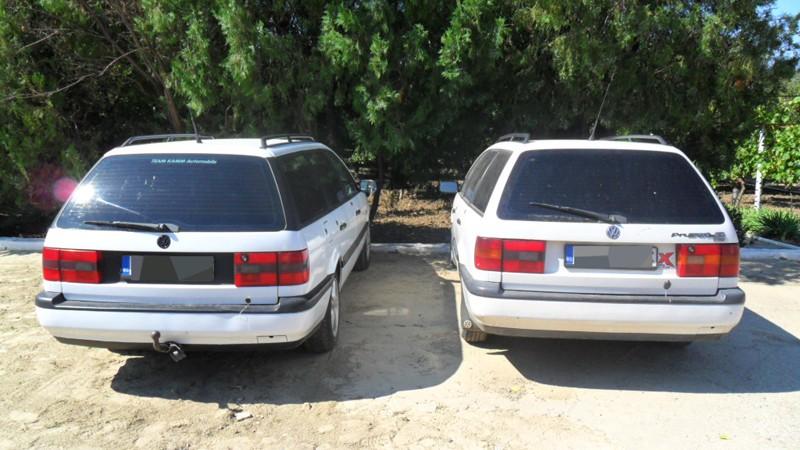 Două autoturisme identice cu acte false, depistate la frontieră