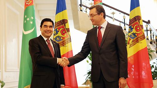 Prima vizită a preşedintelui Turkmenistanului în Moldova