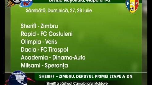 Rezultatele primei etape a Diviziei Naţionale la fotbal