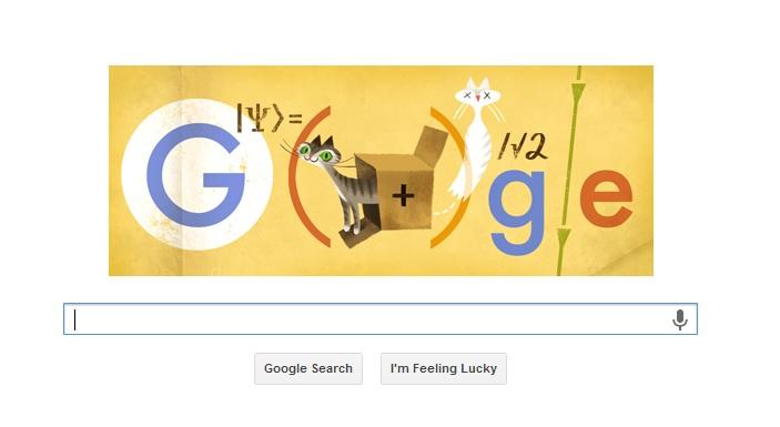 Erwin Schrodinger, sărbătorit de Google printr-un logo special
