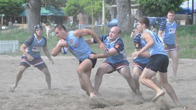 USEFS-Gold Team a câştigat prima etapă a Cupei de Rugby pe plajă!