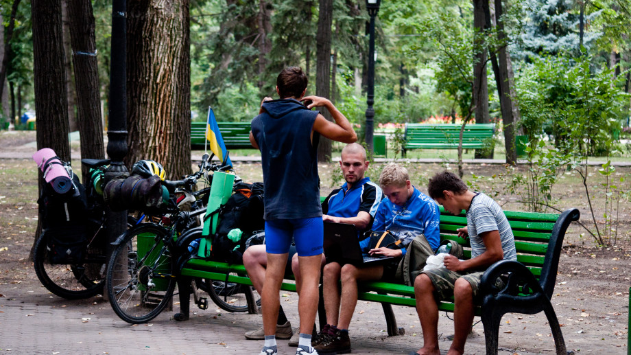 """(foto) Ce fac oamenii în Grădina publică """"Ștefan cel Mare""""?"""