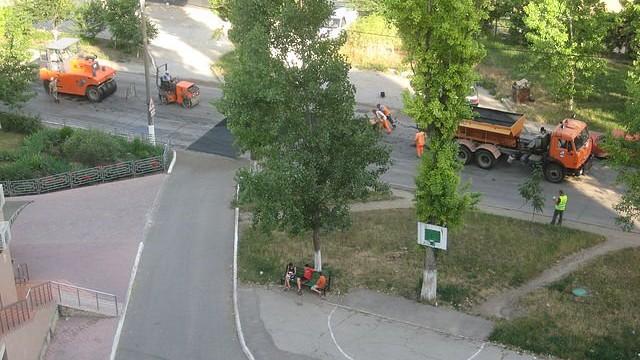 Întreprinderea Municipală Exdrupo din Chișinău repară drumurile din Bender