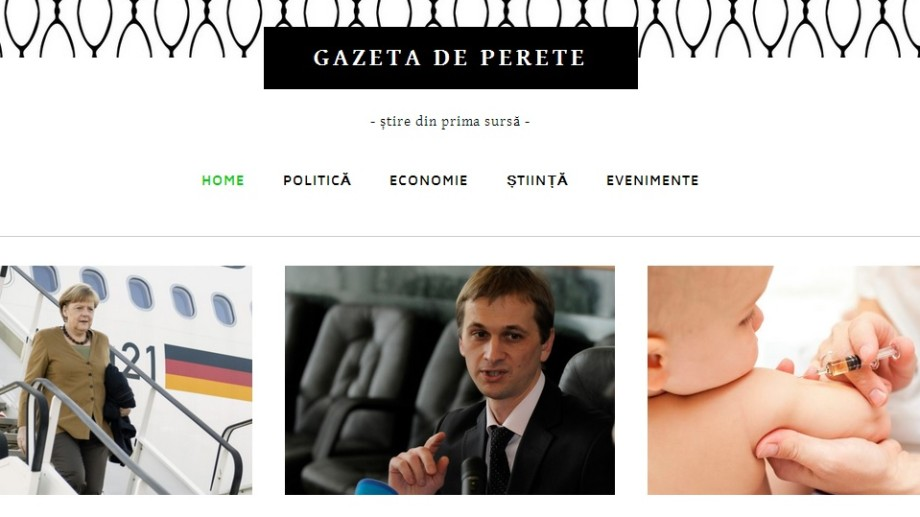S-a lansat Gazeta de perete, varianta moldovenească a Times New Roman