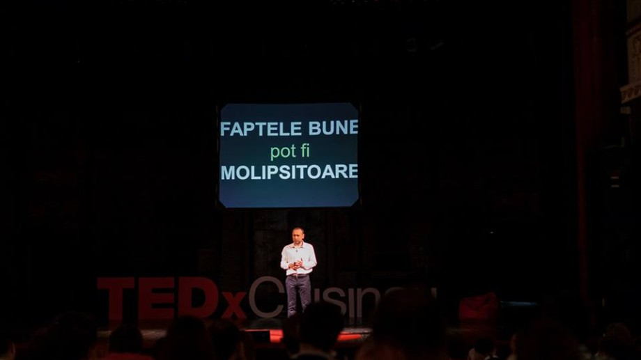 "(video) Igor Guzun la TEDxChisinau: ""Faptele bune sunt molipsitoare"""