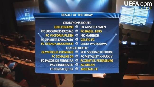 Tragerea la sorți a Ligii Campionilor. Steaua va juca cu Legia Varșovia