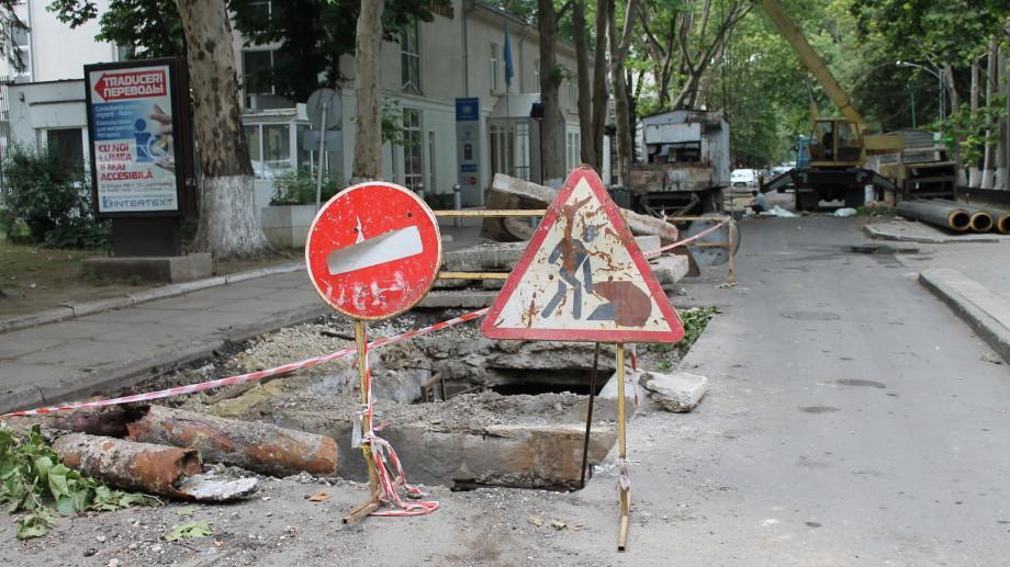 Lucrările de reconstrucție a apeductului de pe V. Alecsandri vor dura până la iarna