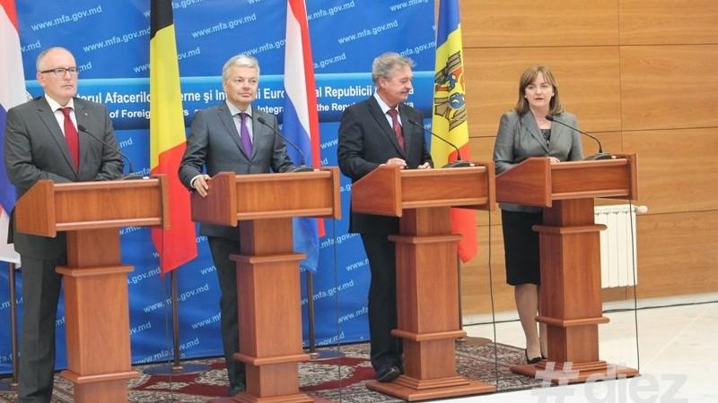 Țările Benelux susțin Moldova în procesul de integrare în UE
