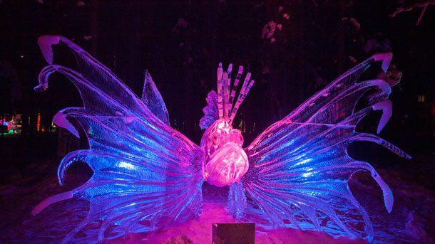 Uimitoarele sculpturi de gheață de la Ice World Championships