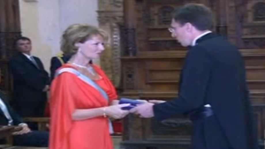 (foto,video) Dorin Chirtoacă decorat cu Ordinul Coroana României în grad de Cavaler