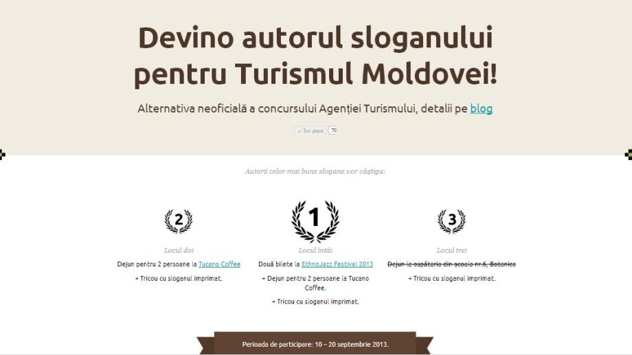 """Concurs alternativ – """"Devino autorul sloganului pentru Turismul Moldovei!"""""""