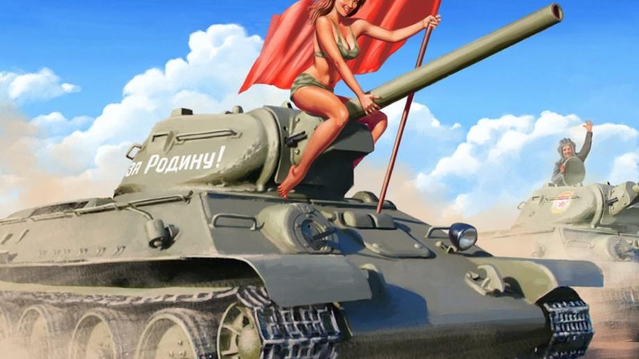 Postere sovietice în stil pin-up girls