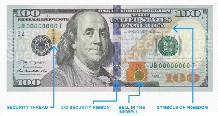 (foto) O nouă bancnotă de 100 dolari a fost lansată azi în SUA