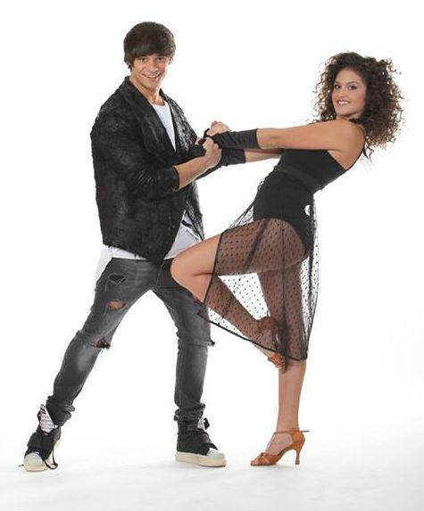 Dima alături de partenera sa de dans Iulia
