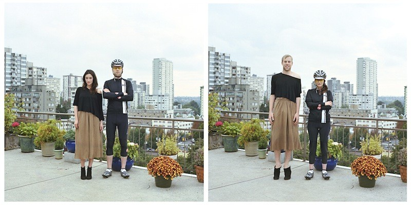 (foto) Participanții unui proiect fotografic au schimbat hainele cu jumătățile lor