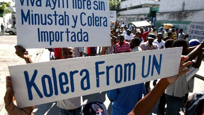 ONU dat în judecată pentru răspândirea holerei în Haiti