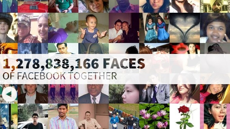 Toate fețele de pe Facebook într-o singură imagine. Găsește-te!