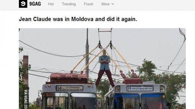 Jean-Claude Van Damme face populară Moldova pe 9gag