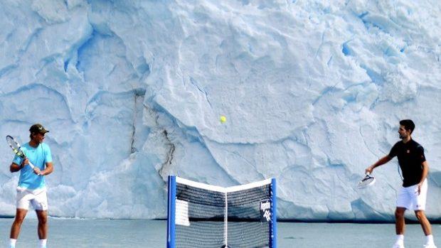 (video) Nadal și Djokovic au jucat un meci în Glaciarul Perito Moreno