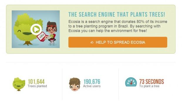 Ecosia – un motor de căutare care platează copaci la fiecare search