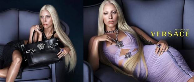 (foto) Lady Gaga este noua imagine Versace