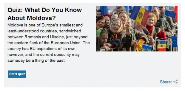 """What do you know about Moldova?"" un test lansat de Radio Europa Liberă"