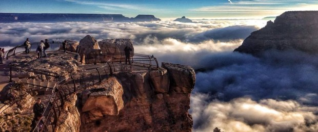 (foto) Celebrele văi de la Grand Canion umplute de ceață