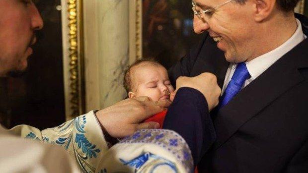 (foto) Dorin Chirtoacă, naș la botezul nepoatei lui Traian Băsescu