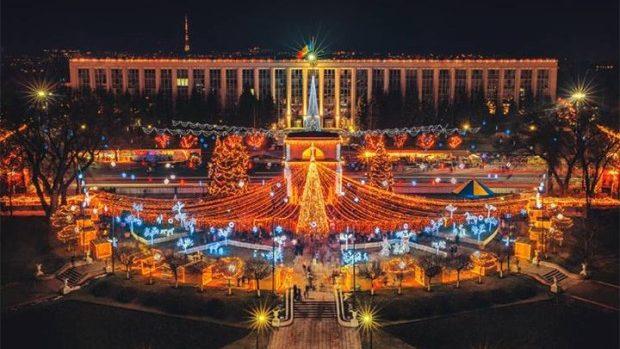 (foto)  Iluminatul decorativ din Chișinău în 20 de poze de pe Instagram