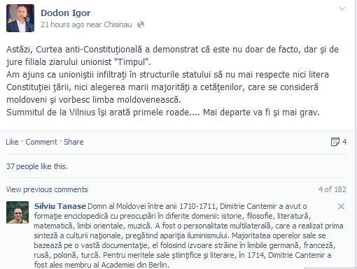 Părerea lui Dodon Igor