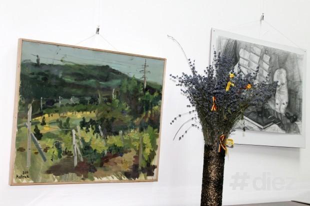 Lucrări de la expoziția cu genericul ''Fuziunea Impresiilor''