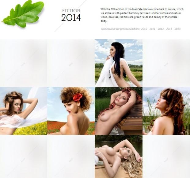 Coperta calendarului PC: Linder