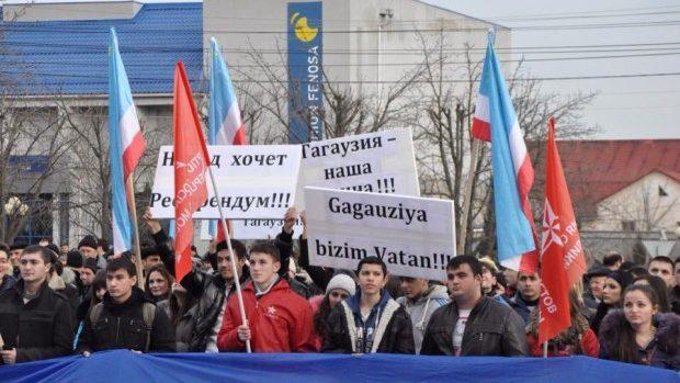 (foto) Protestul PSRM de la Comrat