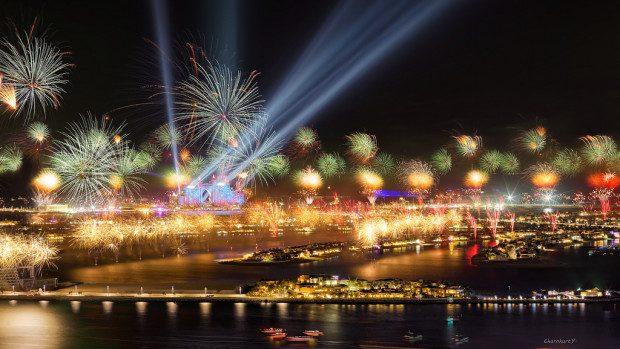 (foto,video) Dubai, cel mai frumos spectacol de artificii din lume de Revelion