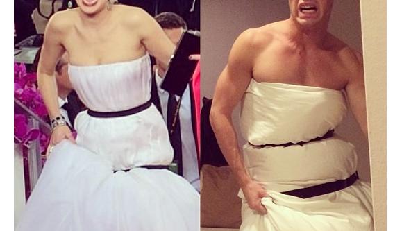 (foto) Rochia lui Jennifer Lawrence transformată în meme