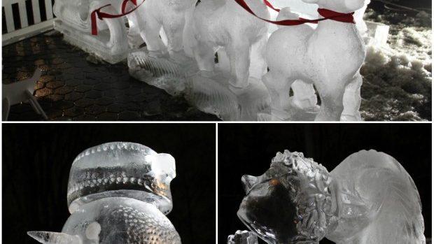 (foto) La Chișinău a fost inaugurată o expoziţie cu figuri de gheaţă