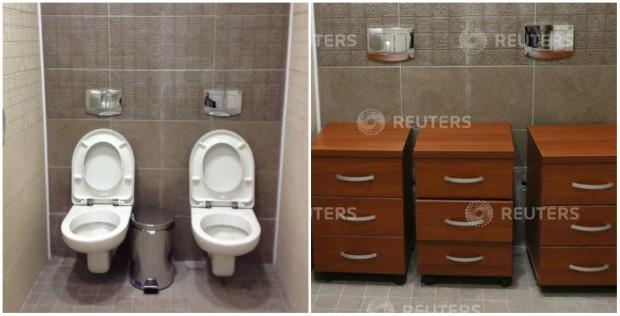 (foto) Două WC-uri într-o cabină de toaletă pentru sportivii de la Jocurile Olimpice