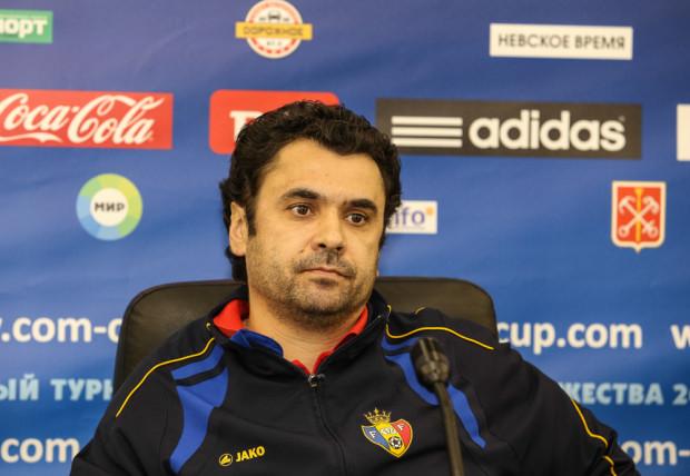 Alexandru Kurteyan la conferința de presă de după meci. PC: com-cup.com