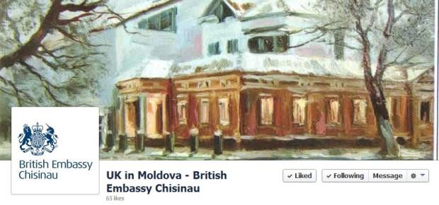 Ambasada Marii Britanii în Moldova și-a lansat pagină de Facebook