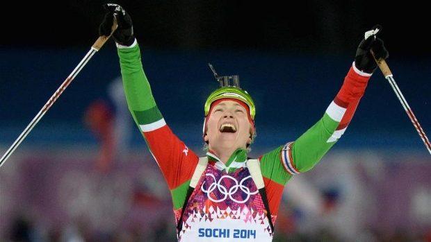 Belarusa Daria Domraceva a devenit triplă campioană olimpică la Soci