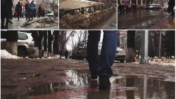 (video) Cum arată Chișinăul blocat între iarnă și primăvară