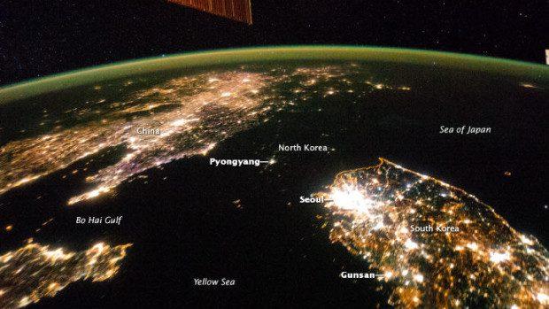 Imaginea zilei: Coreea de Nord, noaptea