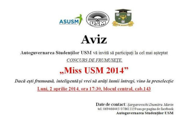 Miss USM 2014 PC: facebook.com/
